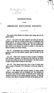 Cover of: Annual Report of the Directors of the American Education Society
