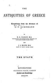 Cover of: The antiquities of Greece