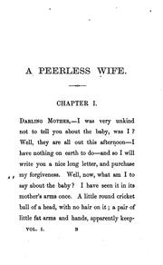 Cover of: peerless wife | Mackarness, Henry S. Mrs.