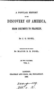 Cover of: popular history of the discovery of America | J. G. Kohl