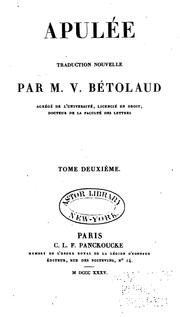 Cover of: Apulée