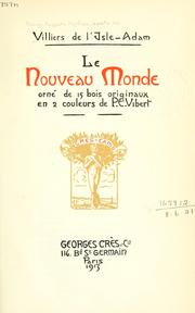 Cover of: Le nouveau-monde
