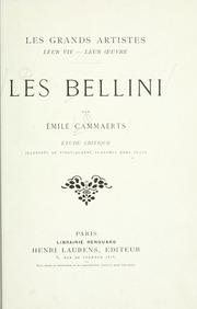 Cover of: Les Bellini