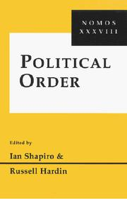 Cover of: Political Order (Nomos) |