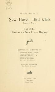 Cover of: List of the birds of the New Haven Region | New Haven Bird Club.