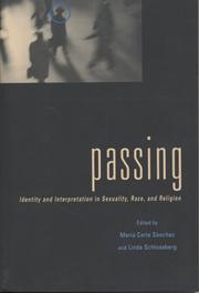 Cover of: Passing |