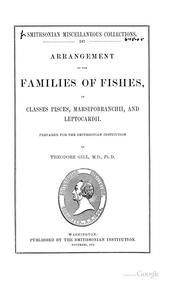Cover of: Arrangement of the families of fishes