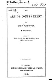 Cover of: The art of contentment