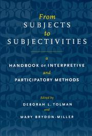 Cover of: From Subjects to Subjectivities |