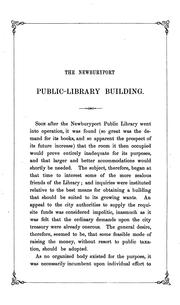Cover of: statement of the proceedings resulting in the purchase of the Newburyport public library building. | Newburyport, Mass.