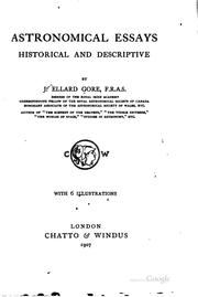 Cover of: Astronomical essays historical and descriptive