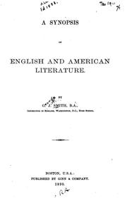 Cover of: synopsis of English and American literature. | George J. Smith