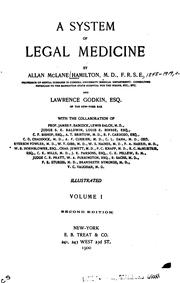 Cover of: A system of legal medicine | Allan McLane Hamilton