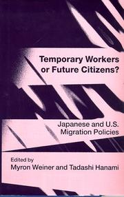 Cover of: Temporary workers or future citizens?