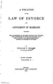 Cover of: Treatise on the law of divorce and annulment