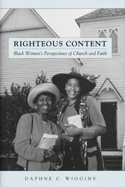 Cover of: Righteous Content | Daphne Wiggins