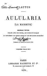Cover of: Aulularia