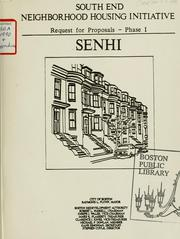 Cover of: South end neighborhood housing initiative: request for proposals - phase i. Senhi