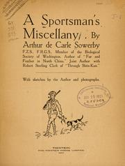 Cover of: A sportsman's miscellany