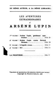 Cover of: Aventures extraordinaires d'Arsène Lupin