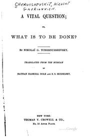 Cover of: A vital question