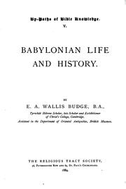 Babylonian life and history by Ernest Alfred Wallis Budge