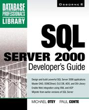 Cover of: SQL Server 2000 developer's guide