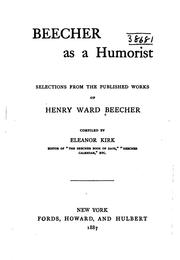 Cover of: Beecher as a humorist | Henry Ward Beecher