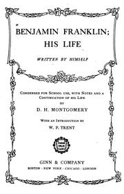 Cover of: Benjamin Franklin, his life
