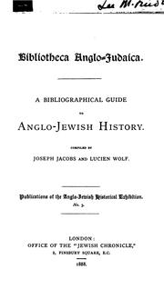 Cover of: Biblioteca anglo-judaica