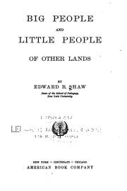 Cover of: Big people and little people of other lands