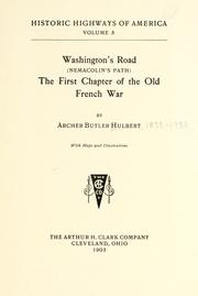 Cover of: Washington's Road (Nemacolin's Path)