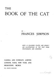 Cover of: book of the cat | Simpson, Frances Miss.