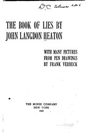 Cover of: The book of lies