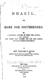 Cover of: Brazil, the home for southerners