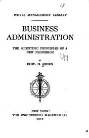 Cover of: Business administration | Jones, Edward David