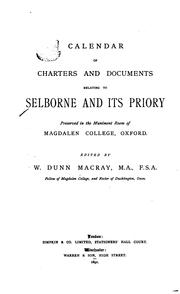 Calendar of charters and documents relating to Selborne and its priory