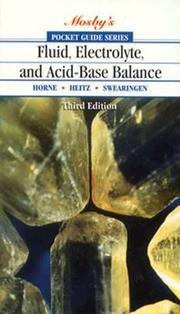 Cover of: Pocket guide to fluid, electrolyte, and acid-base balance
