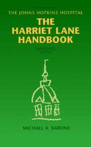 Cover of: The Harriet Lane Handbook | The Johns Hopkins Hospital