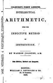 Cover of: Colburn's first lessons