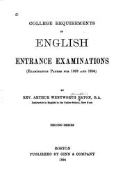 Cover of: College requirements in English entrance examinations