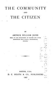 Cover of: The community and the citizen