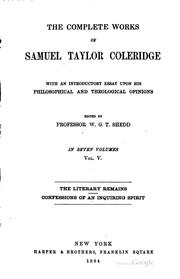 Cover of: Complete Works of Samuel Coleridge
