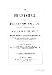 Craftsman and Freemason's Guide by Cornelius Moore