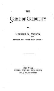 Cover of: The Crime of credulity