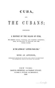 Cover of: Cuba, and the Cubans