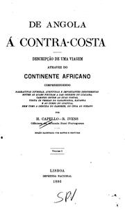 Cover of: De Angola á contra-costa