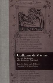 Cover of: Le livre dou voir dit =: The book of the true poem