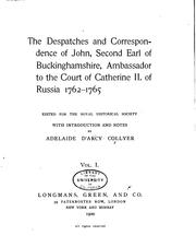 Cover of: dispatches and correspondence of John | Buckinghamshire, John Hobart 2d earl of