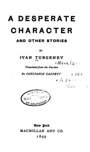 Cover of: A Desperate Character and Other Stories